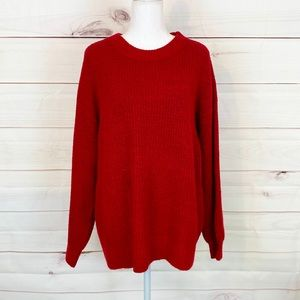 💕🌵NWOT American Eagle Red Oversized Sweater Med
